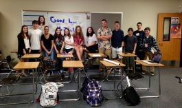 Some of my 2014-15 AP U.S. History students wishing me good luck at Binghamton, May 2015